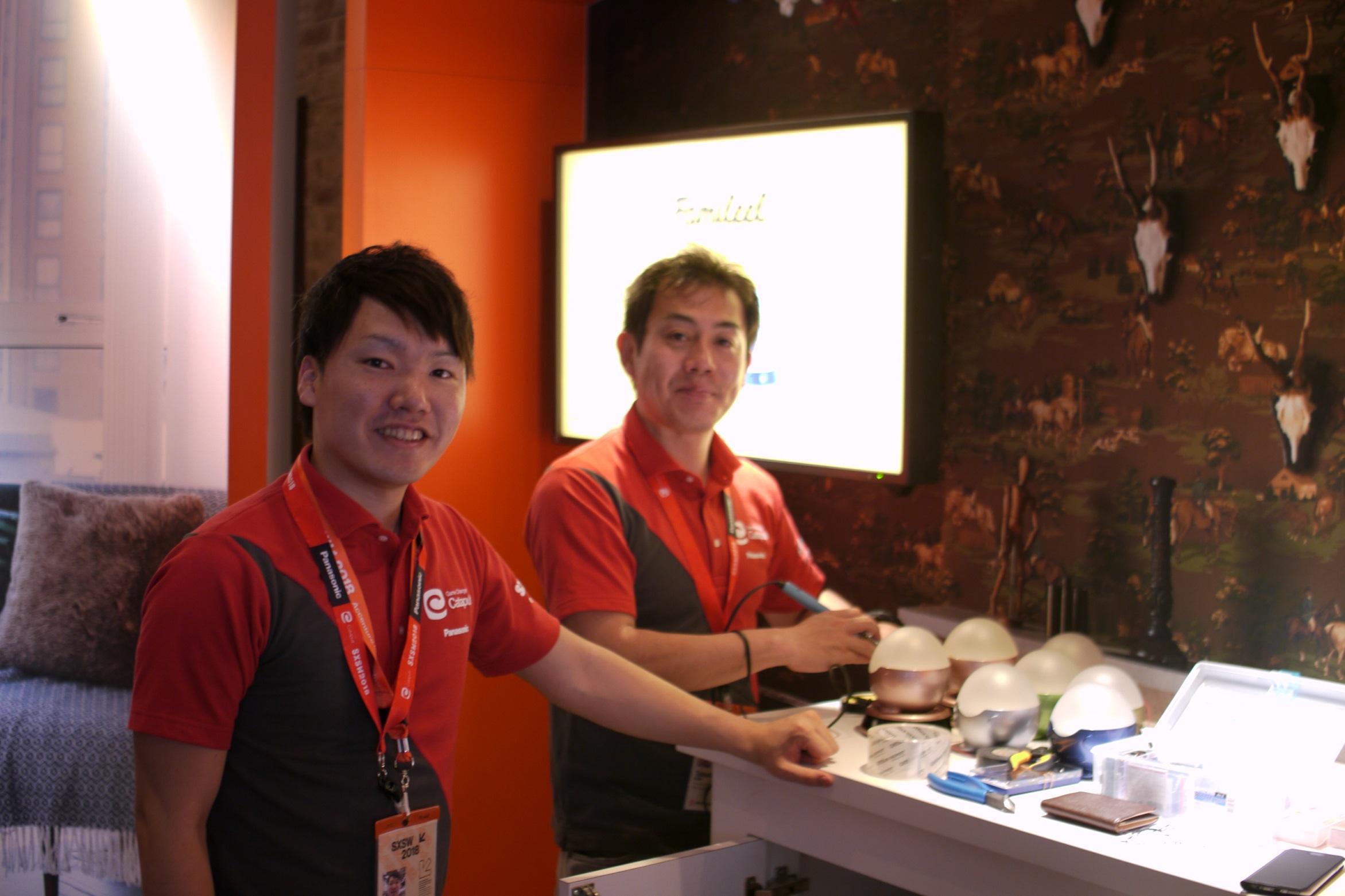 1_SXSW出展時の様子、左が森川_Morikawa (Left) at SXSW.JPG