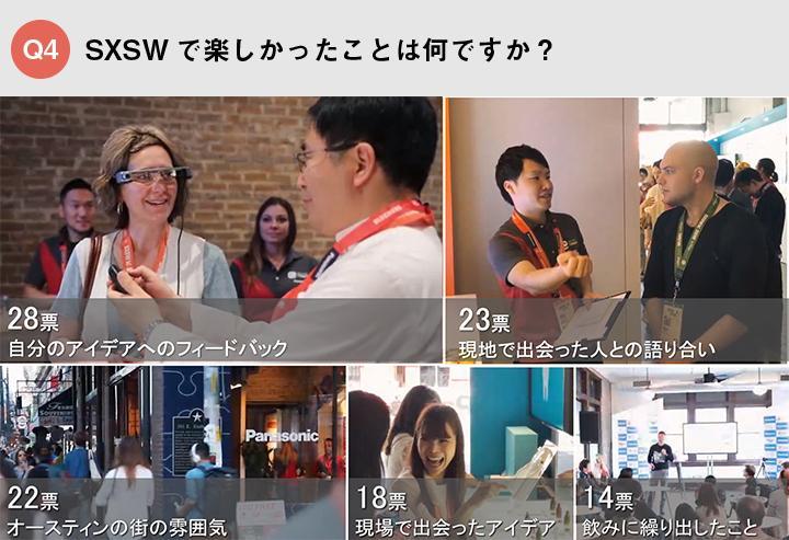 Picture of Q4_Q4 SXSWで楽しかったことは何ですか?